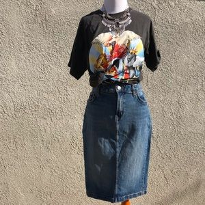 Vintage Calvin Klein Denim Skirt